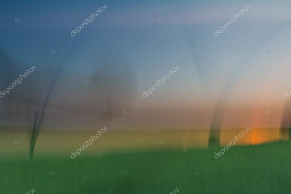 Blurred evening landscape