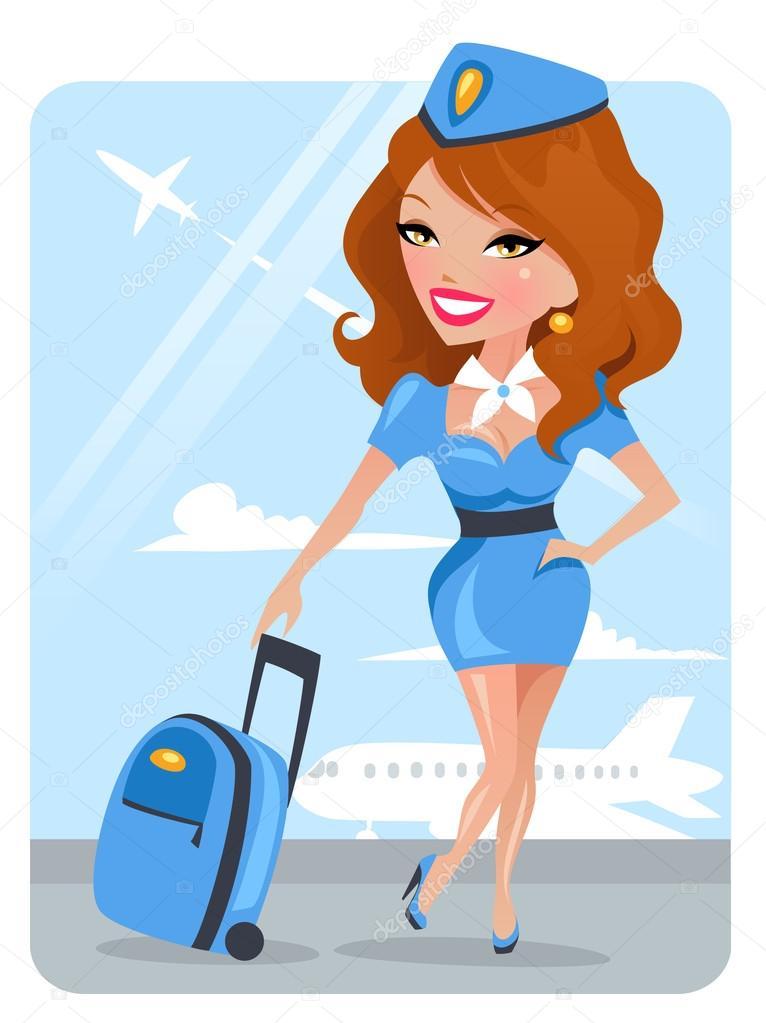 Картинка стюардесса анимация, для милой любимой