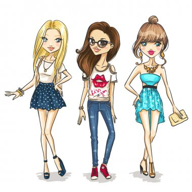 Fashion girls stock vector