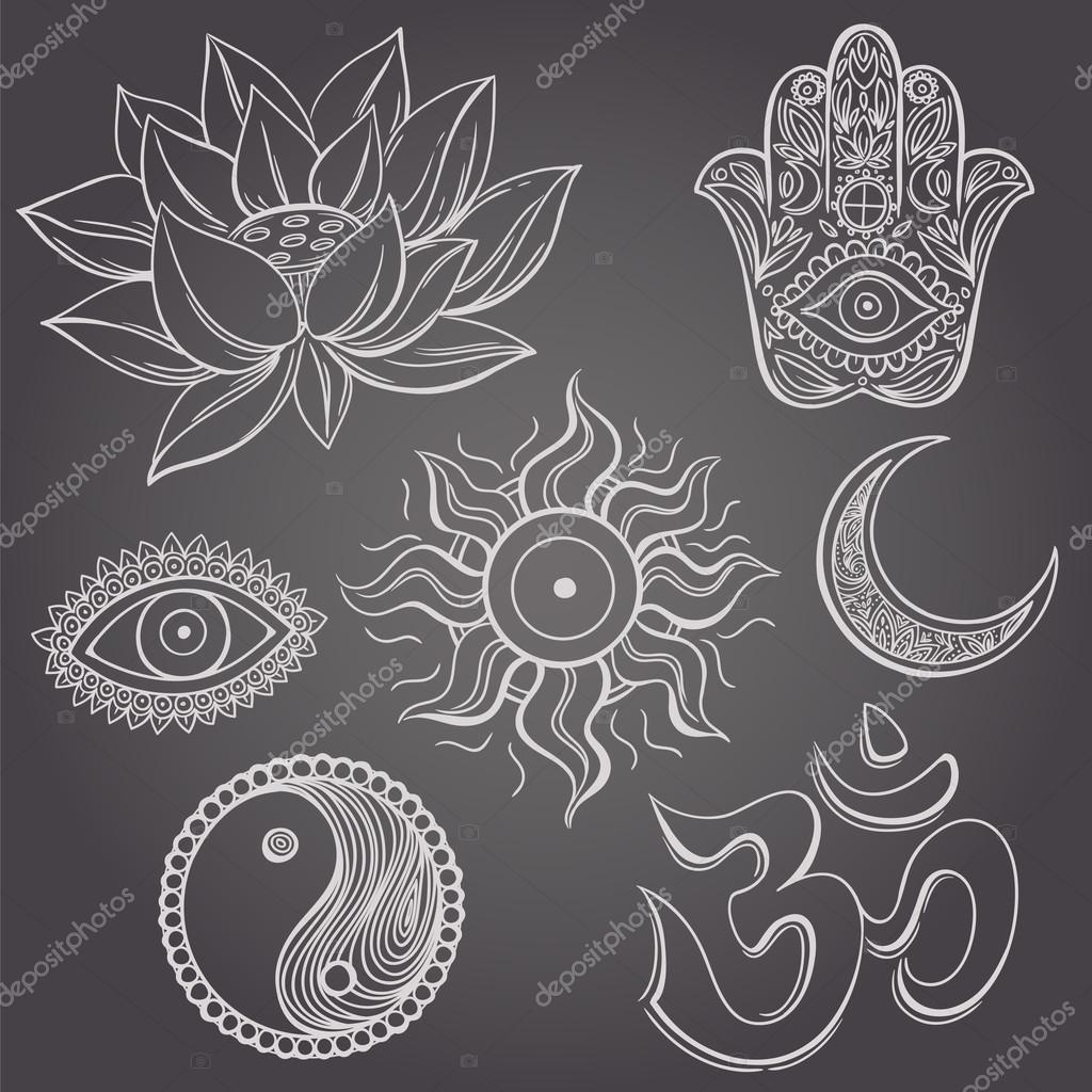 spirituelle symbole stockvektor karinacornelius 76876355. Black Bedroom Furniture Sets. Home Design Ideas