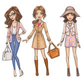 Photo Three fashion girls