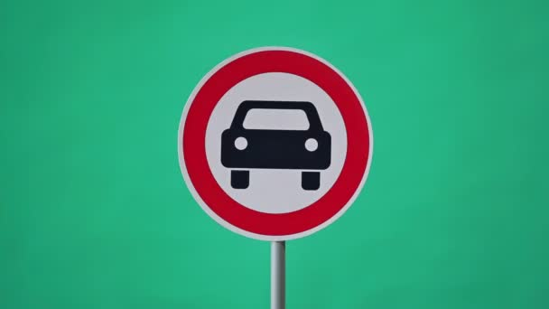 Traffic signs. Road safety concept. Stop motion animation