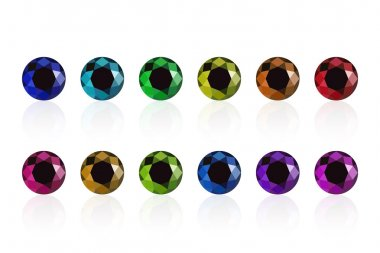 synthetic diamond set