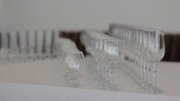 Three Empty Wine Glasses in a row