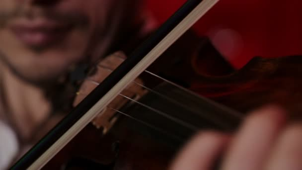 Klasszikus játékos kezét. A hegedű-játék részletek