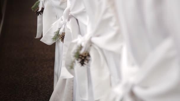 Sedie Decorate Per Natale : Decorazioni di natale su matrimonio sedie rustico u video