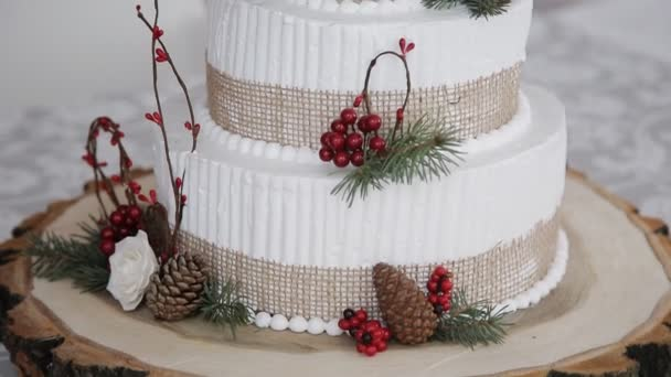Hochzeitstorte Mit Beeren Rustikal Stockvideo C Utlanovd 95374592