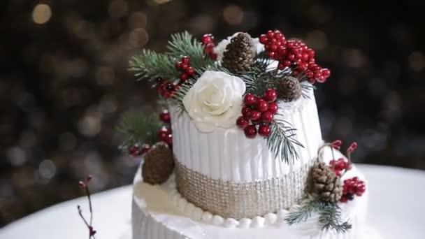 Rustikale Hochzeit Kuchen mit Früchten