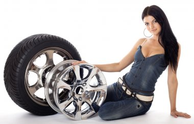 Tire and disk.