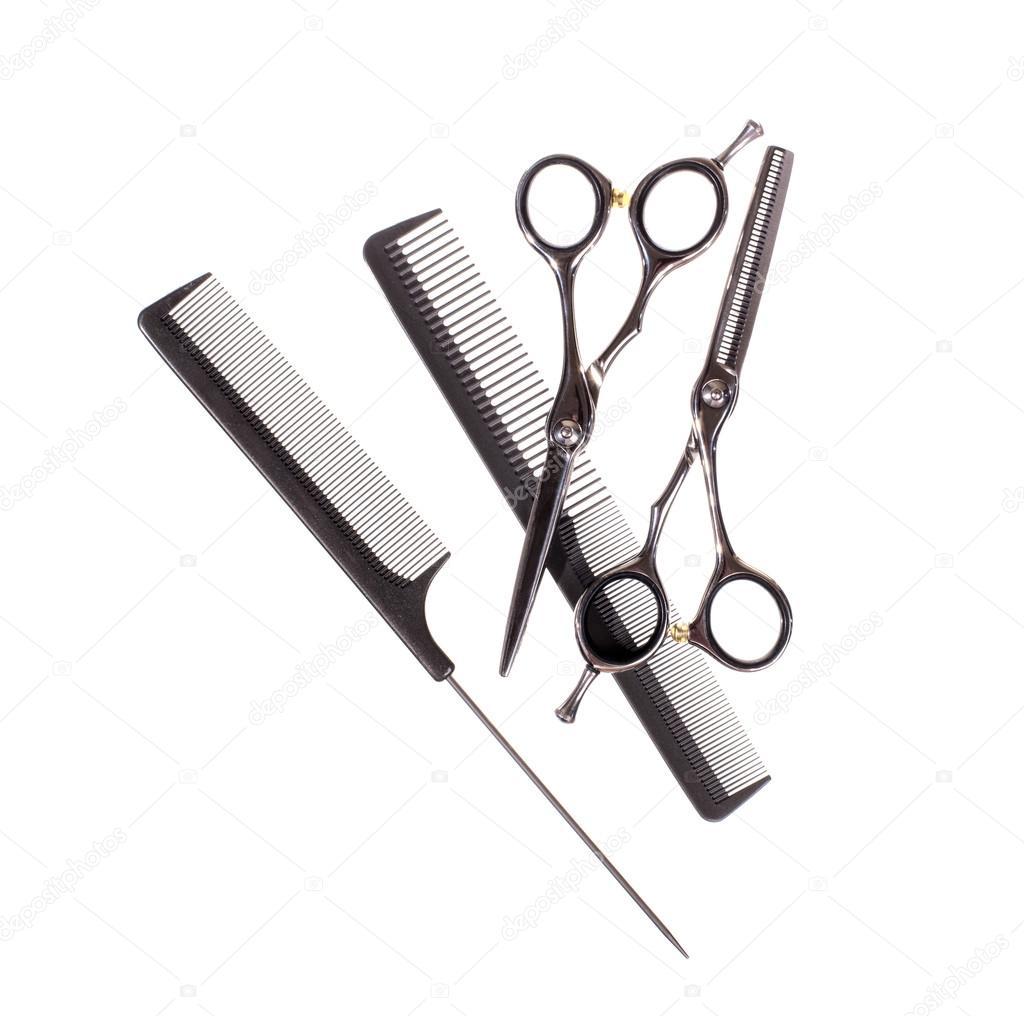 Basic hair cutting tools , Stock image \u2014 Stock Photo