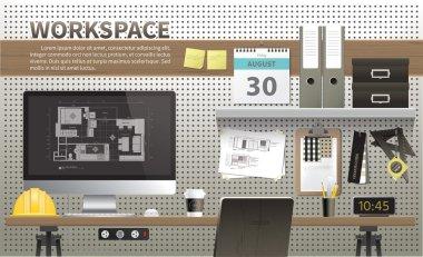 Architecture and interior design workspace