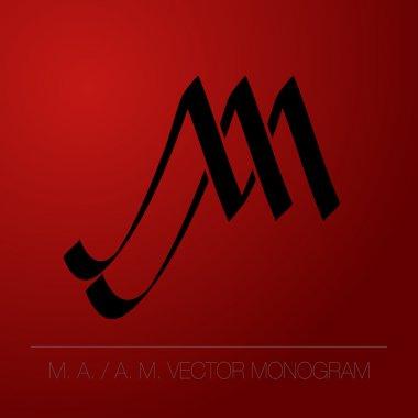 Monogram, logo: A.M - M. A