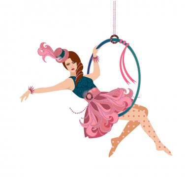 Woman Aerial Trapeze Performer