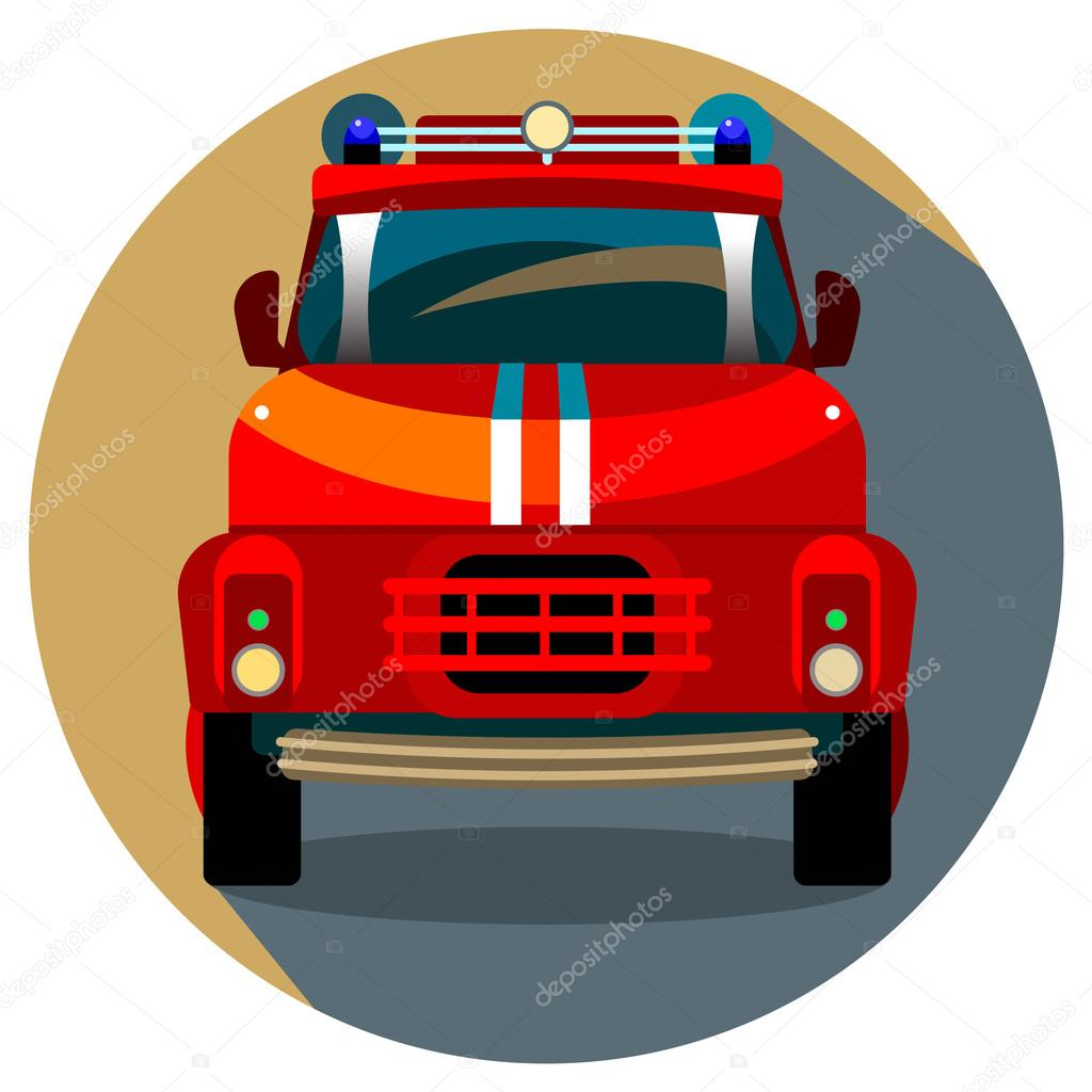 Kırmızı Itfaiye Arabası Vektör çizim Stok Vektör S Elena 89208000