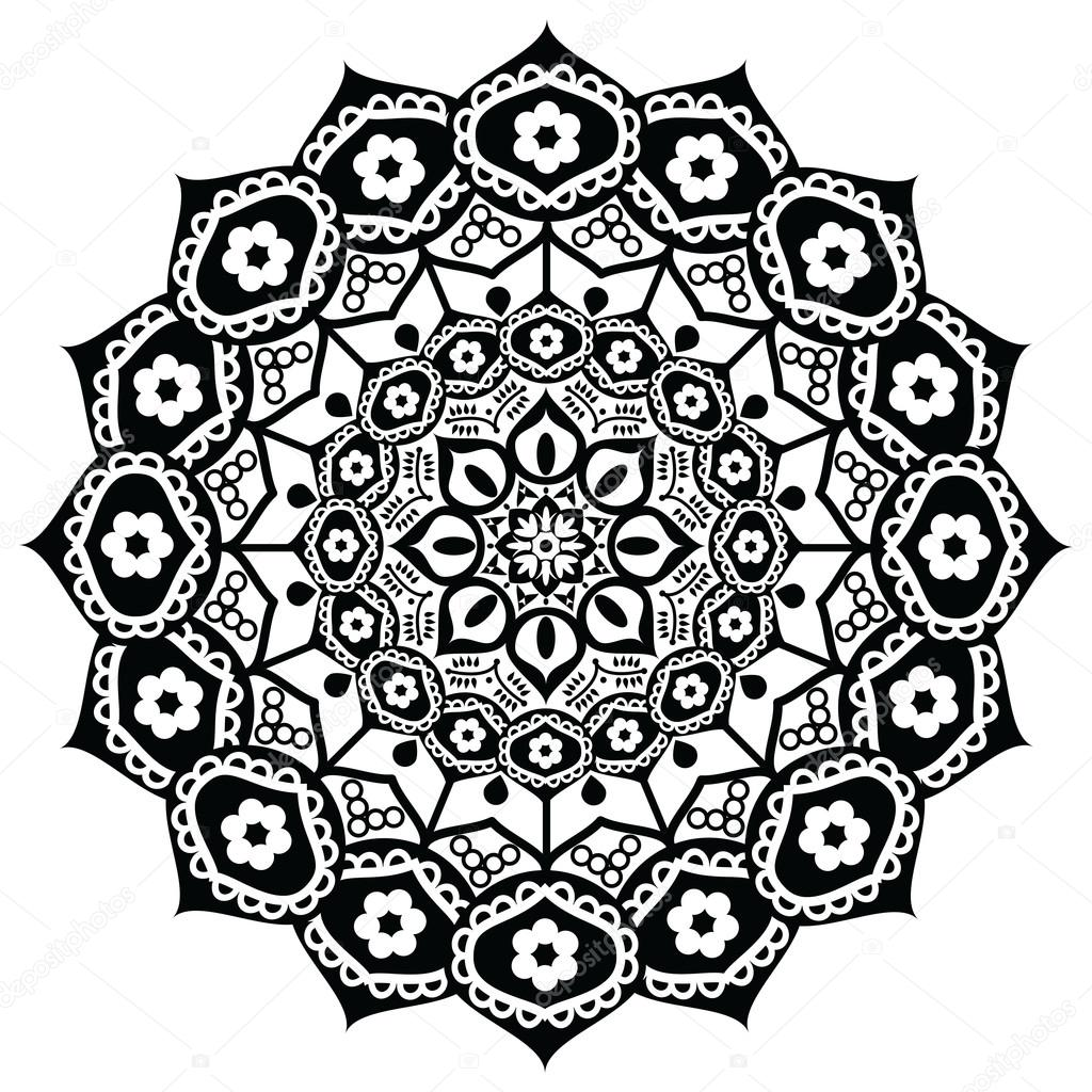 Lotus flower representing meaning exactness spiritual awakening lotus flower representing meaning exactness spiritual awakening and purity in buddhism in black and white in mandala style vector by zozodesign izmirmasajfo Images