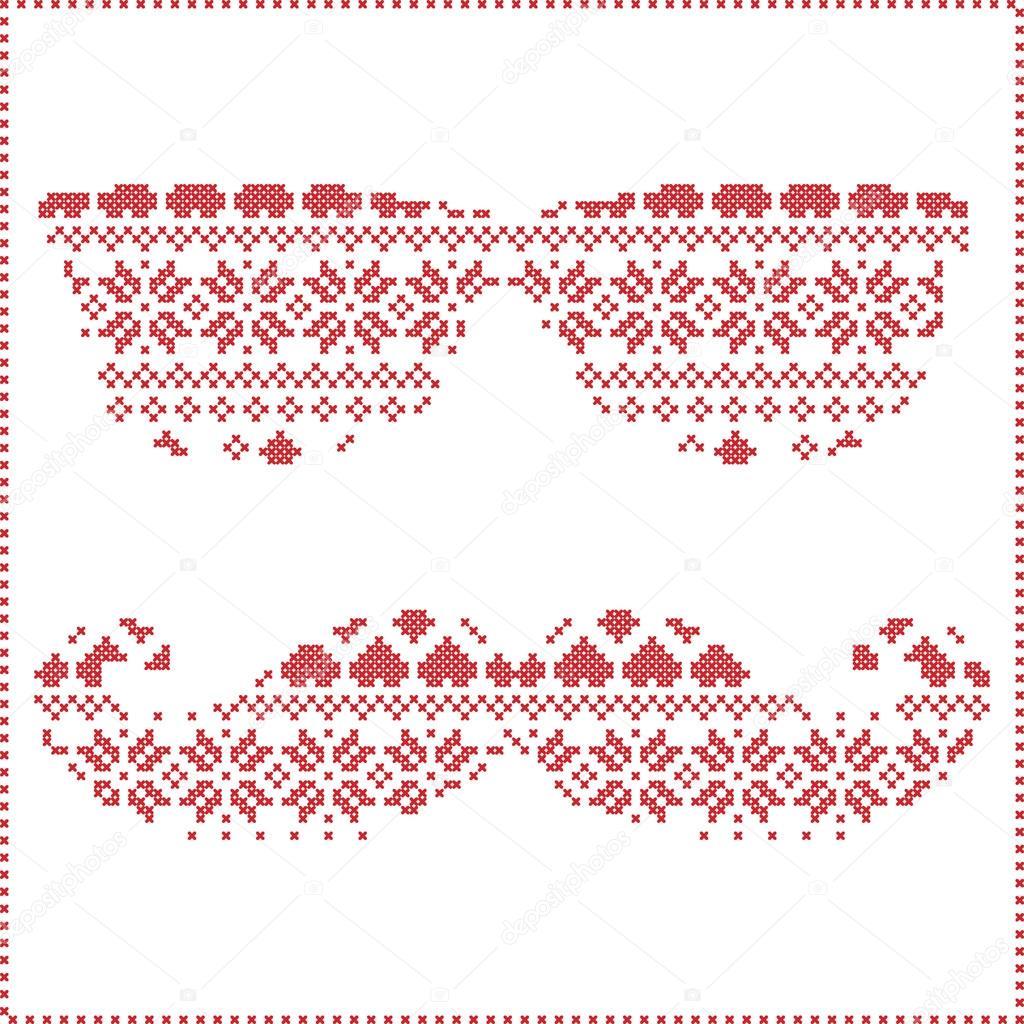 Hipster-Muster im skandinavischen nordischen Winter Nähen stricken ...