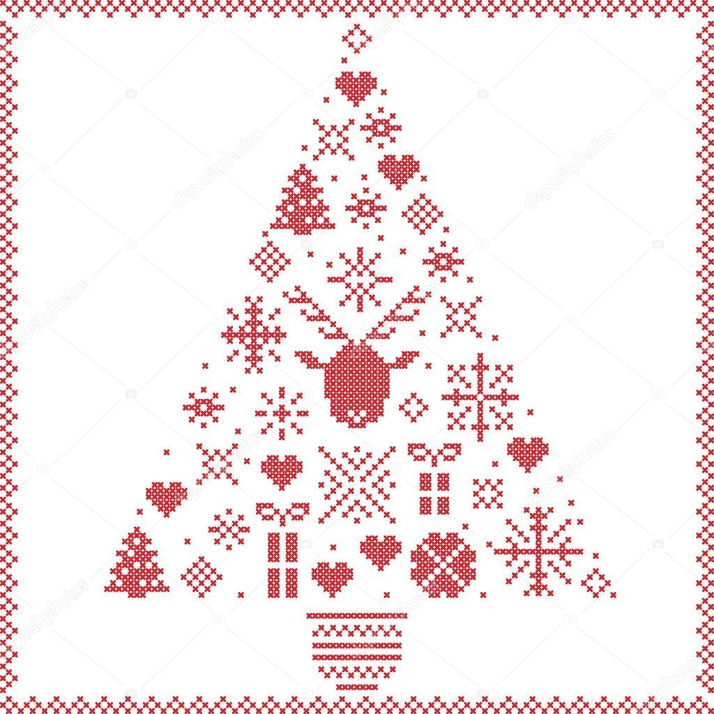 Invierno de estilo noruego escandinavo costura patrones de Navidad ...