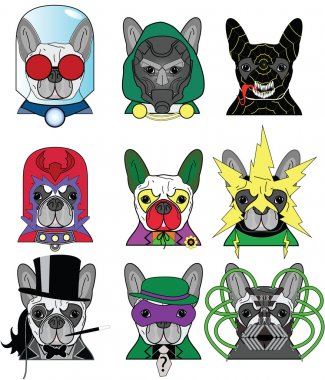 Villains French Bulldog Icons