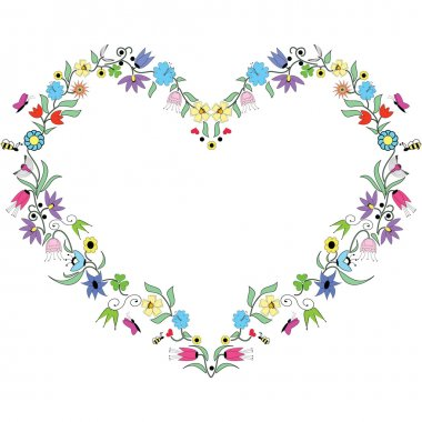 Spring inspired  Heart  Shape
