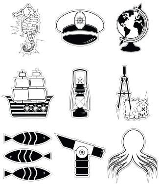 Nautical elements 3 sticker style