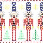 Fotografia Schiaccianoci soldati Natale nordico senza cuciture a punto croce