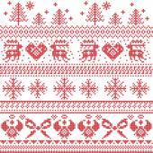 Fotografia Xmas nordico scandinavo modello con renne, conigli, gli alberi di Natale, Angeli, fiocco, cuore, in punto croce