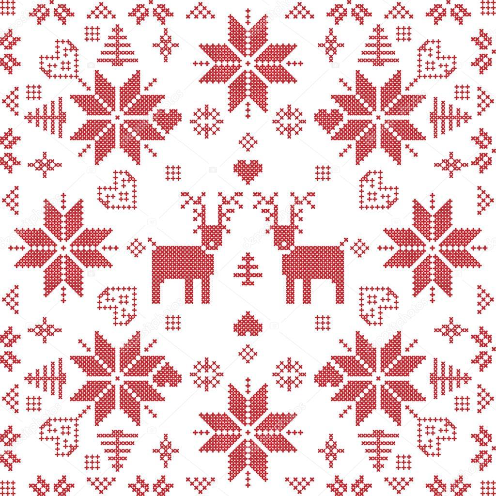 Estilo escandinavo puntada del invierno nórdico, tejer de patrones ...