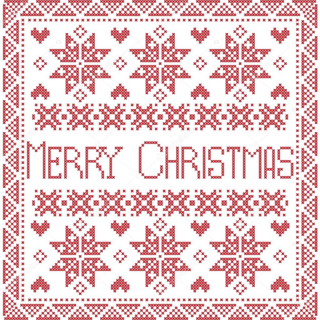 Frohe Weihnachten skandinavischen Stil Nordic Winter Naht, nahtlose ...