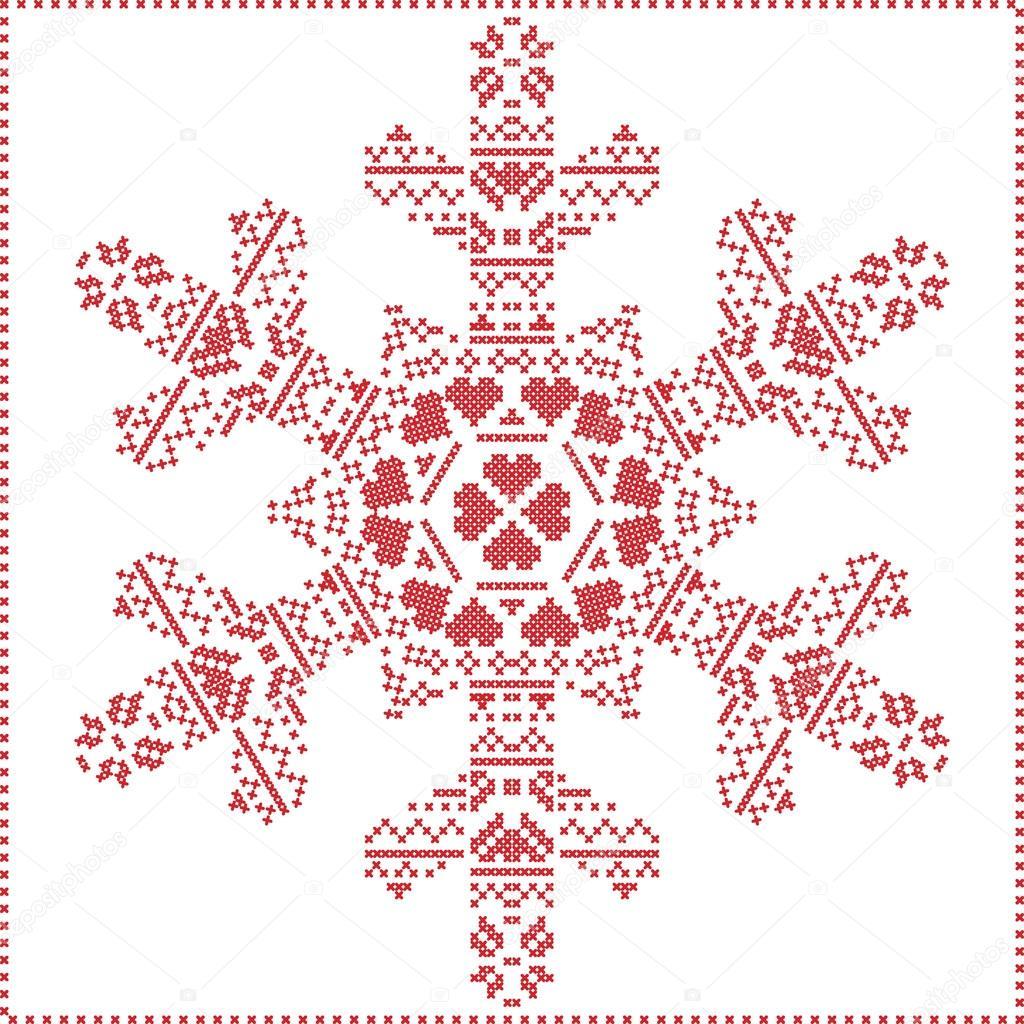 Skandinavischen nordischen Winter Kreuz Nähen, stricken Weihnachten ...