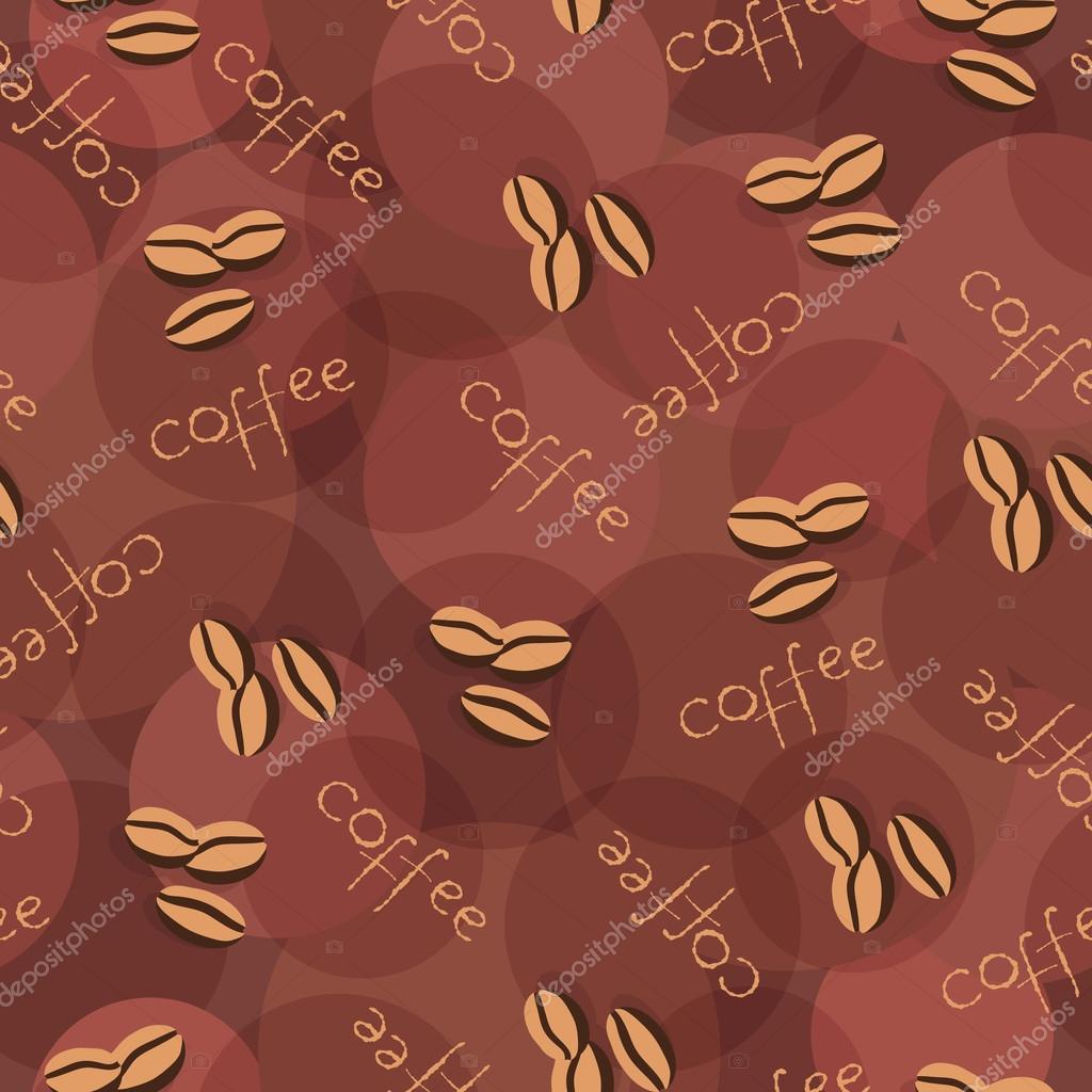 Beige, nahtlose Hintergrund mit Streuung über Kaffeebohnen und ...