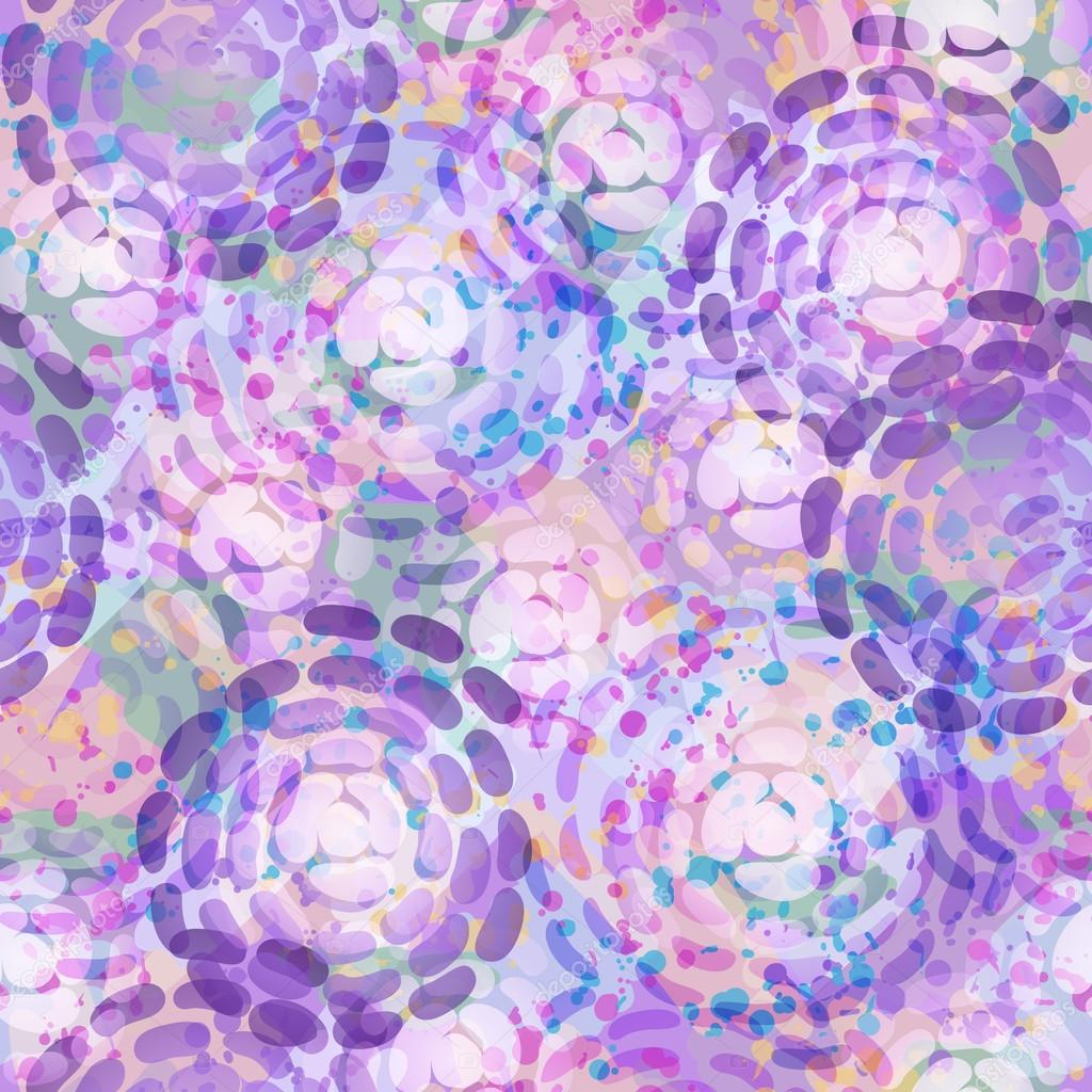 Endless background of purple abstract flowers