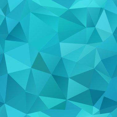 Blue polygonal seamless mosaic background.