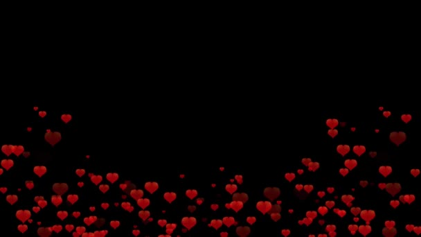 animáció piros szív fekete háttér szív sziluett a központban
