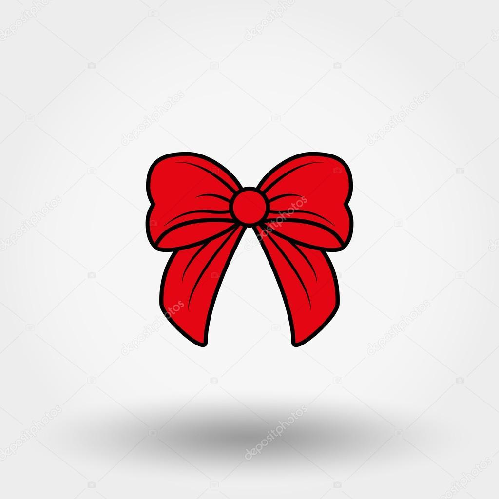 Lazo rojo dibujos animados vector de stock elen88 for Dibujo de lazo de navidad