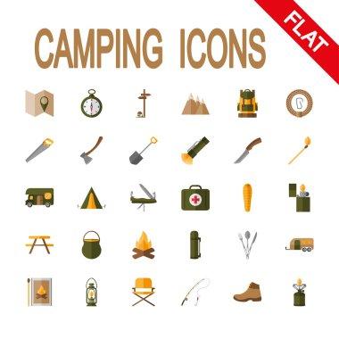 Icon set Camping.