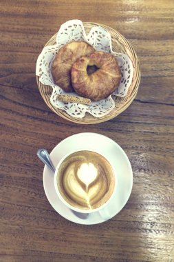 Breakfast, Coffee and croissant