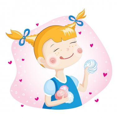 Girl With Marshmallow
