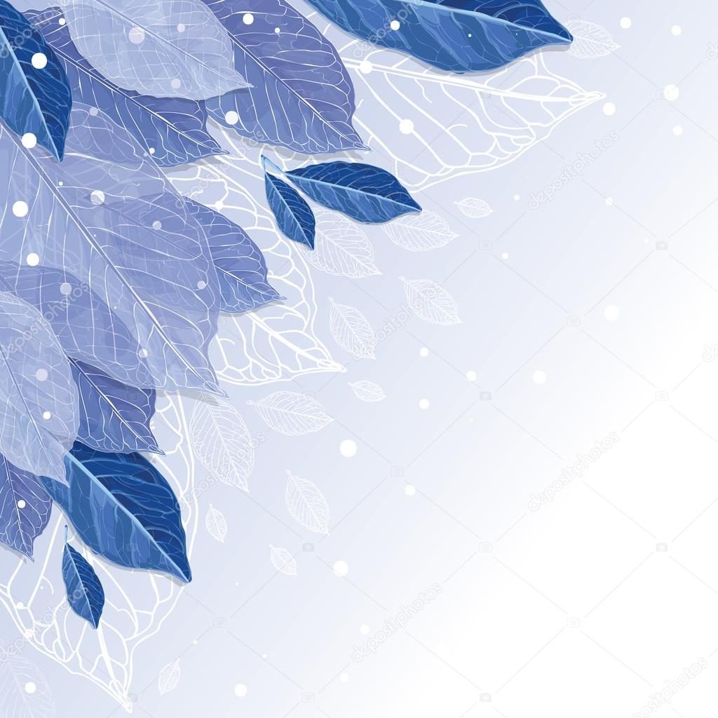 Frozen leaves vector  background