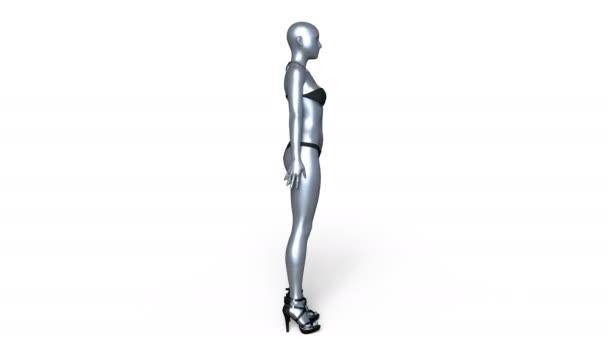 vykreslování 3D cg kovové ženy