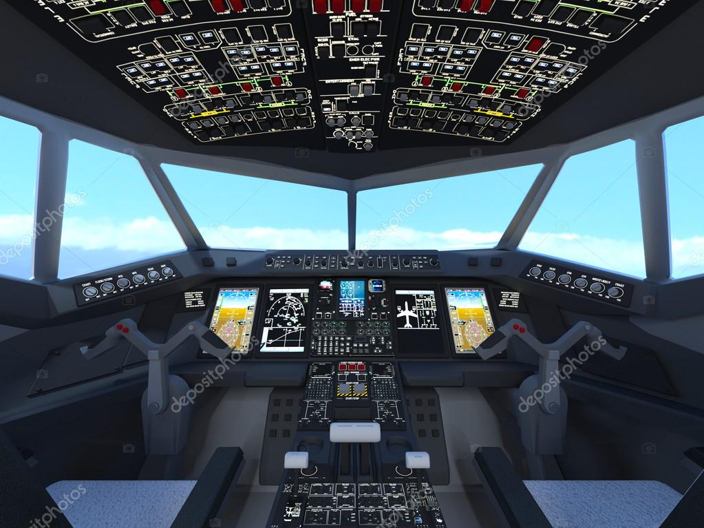 3D CG rendering of cockpit — Stock Photo © TsuneoMP #114807394