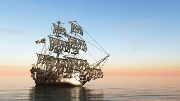 vykreslování 3D cg plachetnice