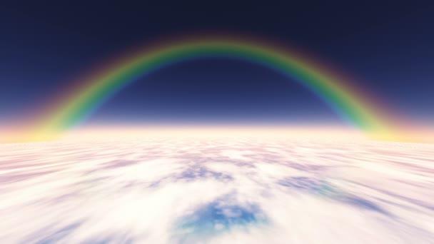 Létání nad mraky s duhou