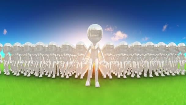 Lidská postava přední dav