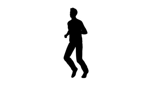futó ember sziluettje