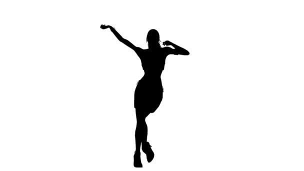 sziluettjét táncoló nő