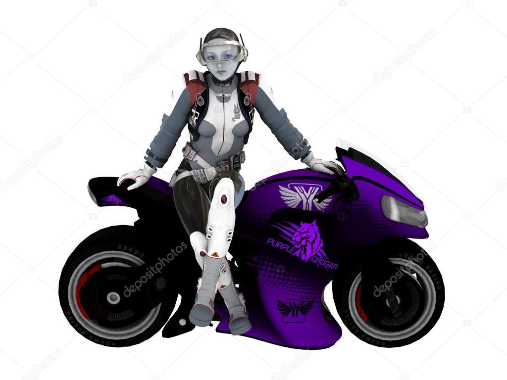 3D CG rendering of female robot