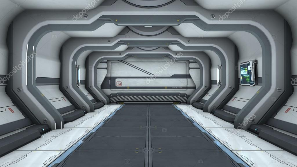 render 3d de la cg de la puerta de la nave espacial foto