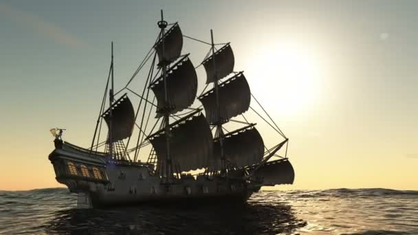3D obrázek plachetnice