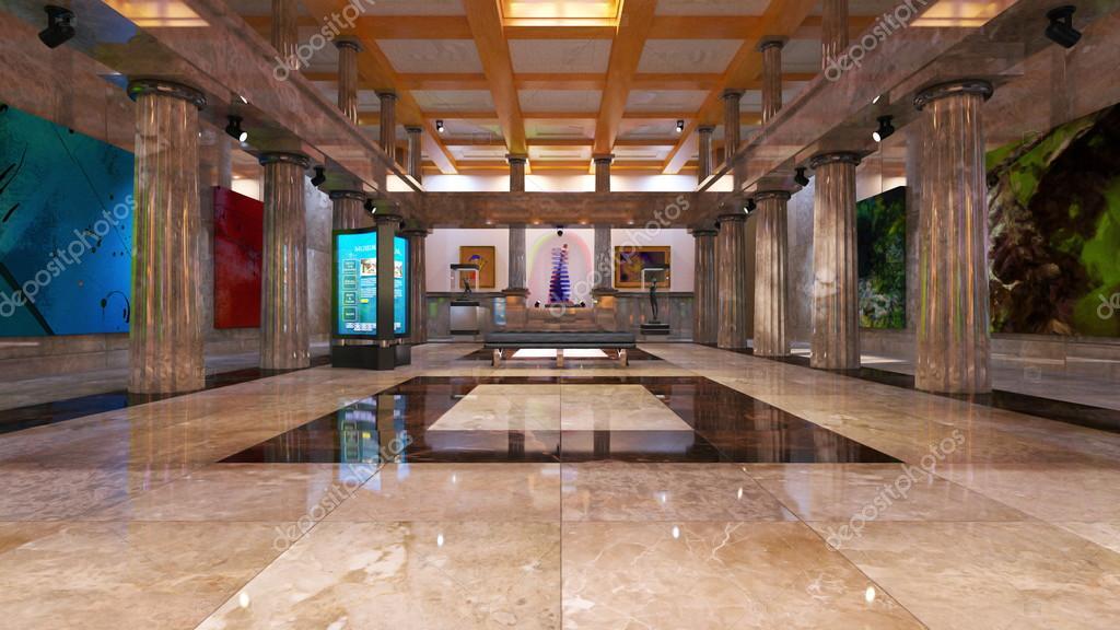 3D CG rendering of lobby — Stock Photo © TsuneoMP #94167632