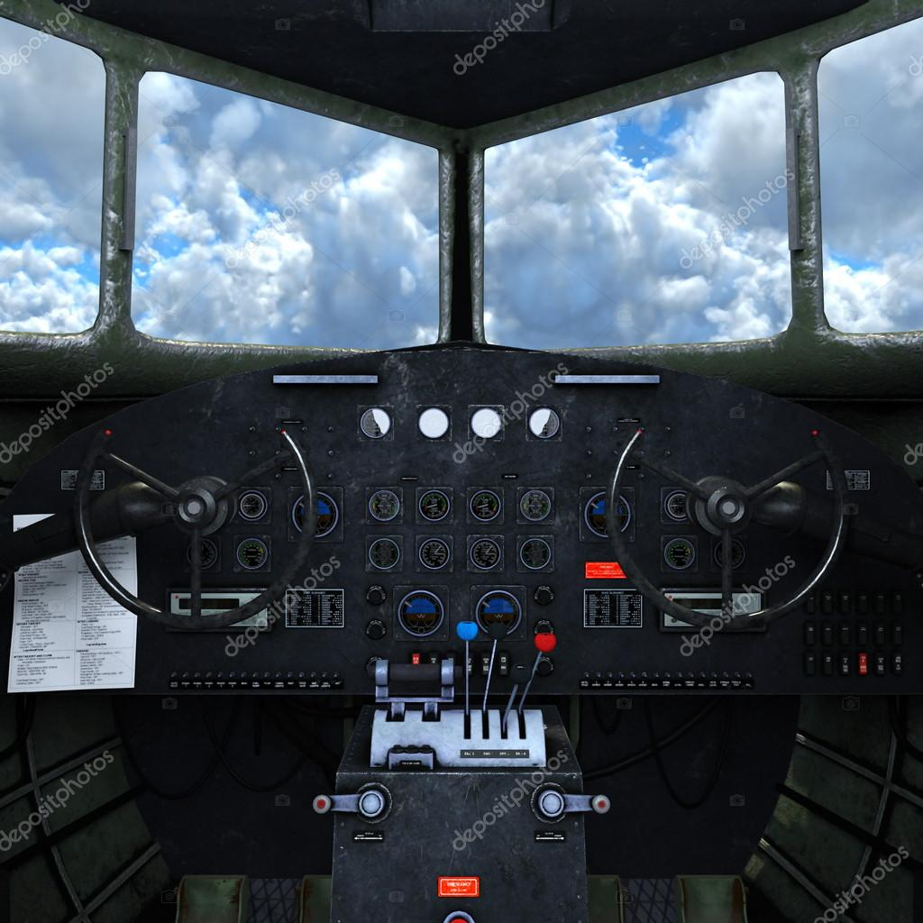 3D CG rendering of cockpit — Stock Photo © TsuneoMP #94991652
